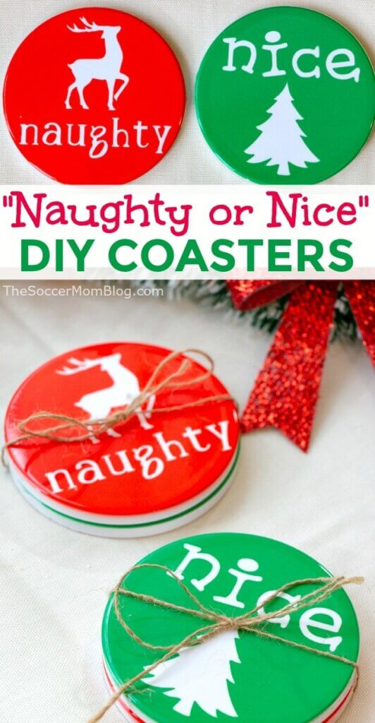 These vibrant and festive Christmas Coasters are easy to DIY with the Cricut Maker! We'll show you step by step how to make two different holiday coaster designs.