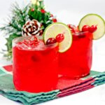 cranberry margarita recipe - festive red holiday cocktail