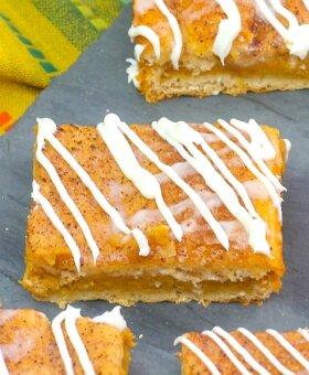 Churro Pumpkin Cheesecake Bars