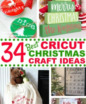 34 Easy Cricut Christmas Crafts