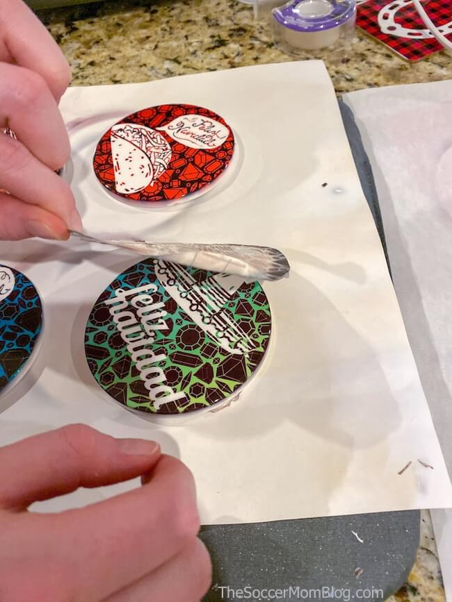 removing transfer paper from Cricut coasters