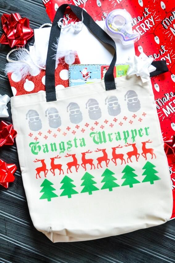 Cricut Christmas crafts: DIY gift bag