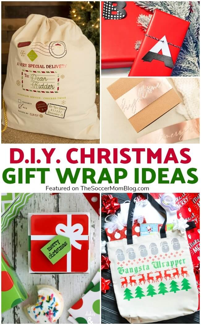 Click for the best DIY Christmas gift wrap ideas you can create with a Cricut Maker!