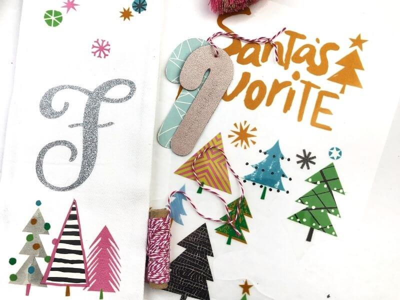 DIY Christmas tea towel with monogram