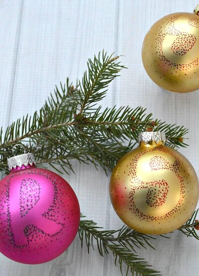 DIY monogram ornaments with Cricut