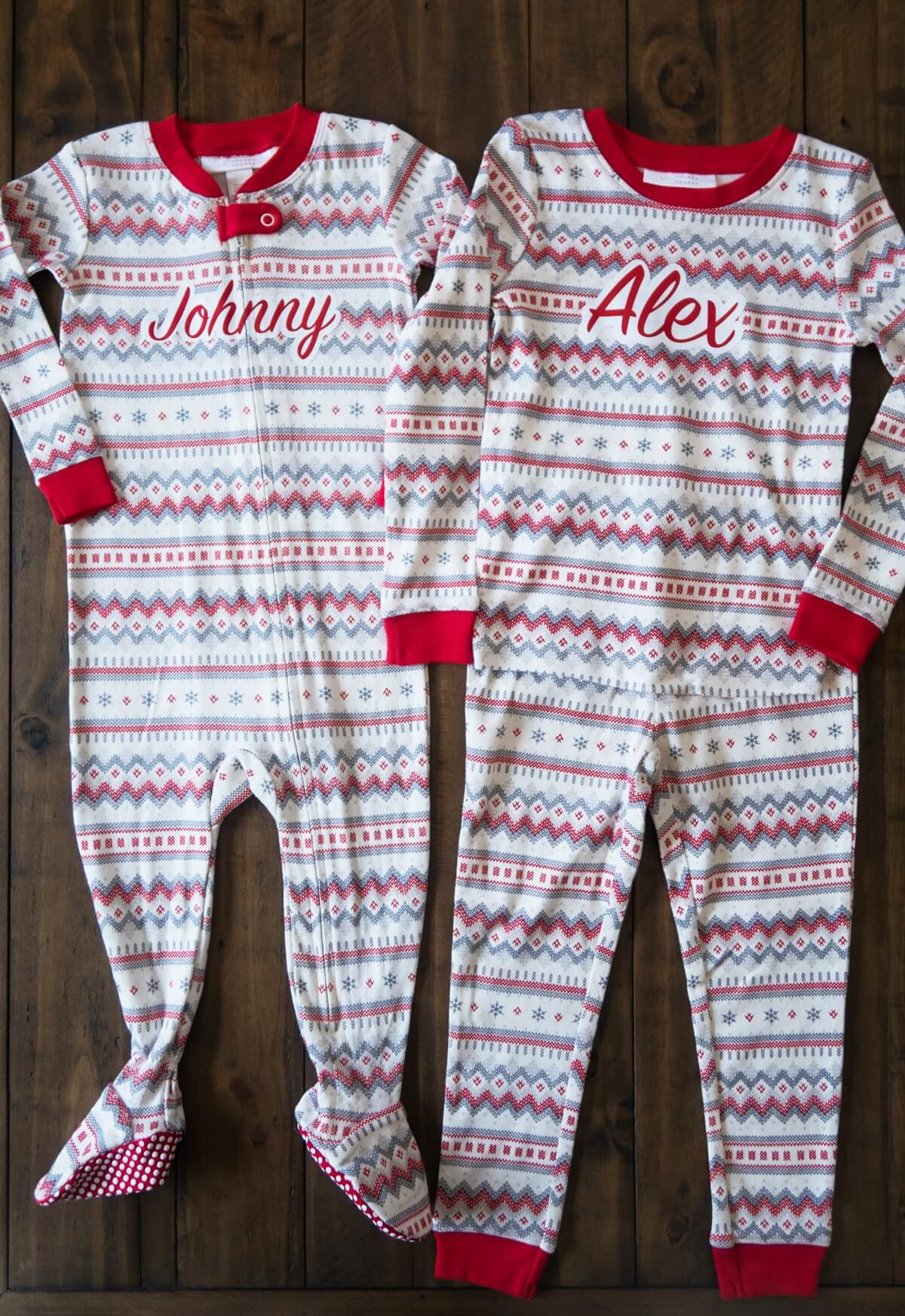 Kids Christmas pajamas DIY