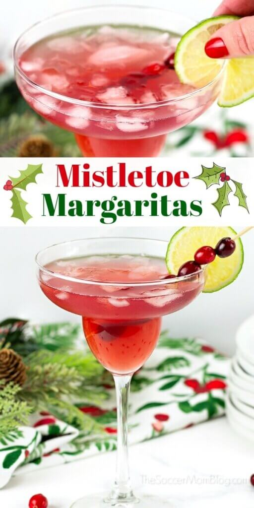cranberry margaritas for Christmas
