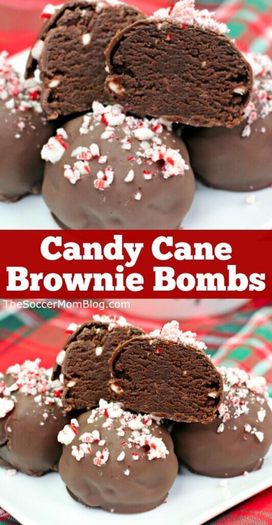 Rich fudge brownies coated in milk chocolate and crushed candy canes, these peppermint brownie truffles are the ultimate holiday indulgence!