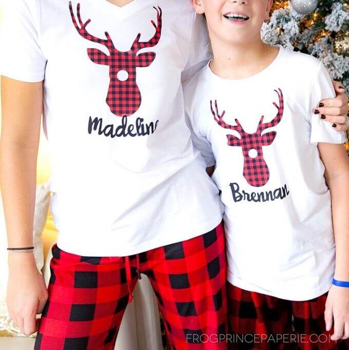 matching DIY Christmas pajamas