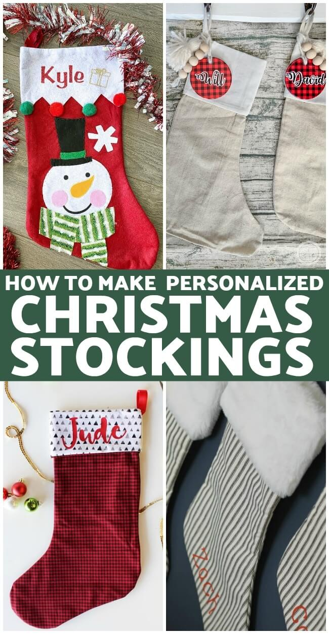 Making your own Christmas stockings has never been easier! No more measuring and tedious cutting patterns by  hand — the Cricut Maker does it perfectly so all you have to do is put them together and make them your own!