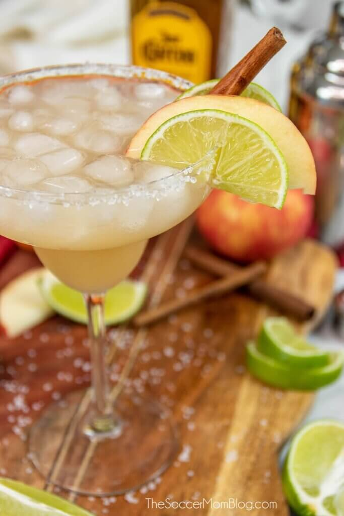 fall flavored margarita cinnamon sticks and fruit