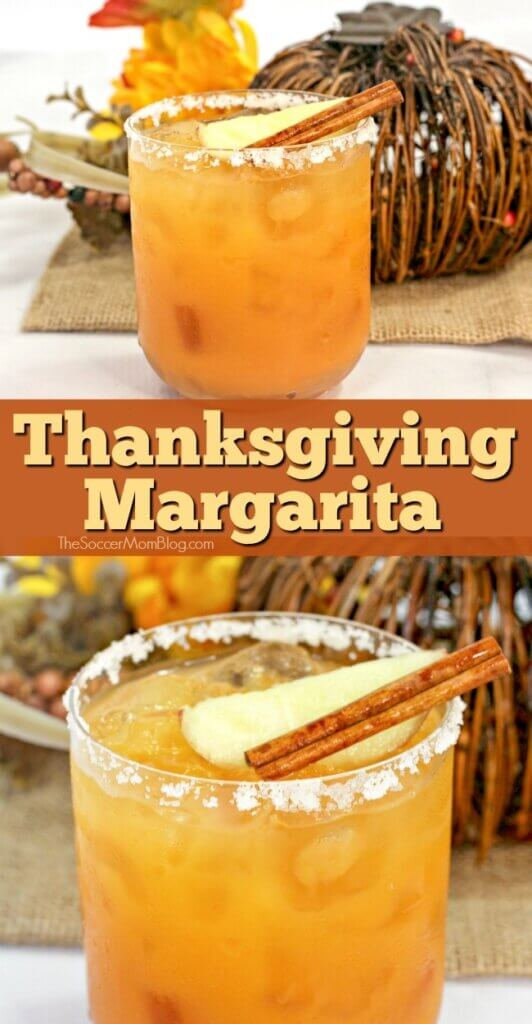 A smooth, sweet, and spicy fall themed cocktail, this Thanksgiving Margarita is a treat for the taste buds!