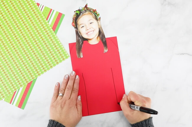 drawing an ugly sweater Christmas card