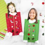 ugly sweater kid made Christmas card