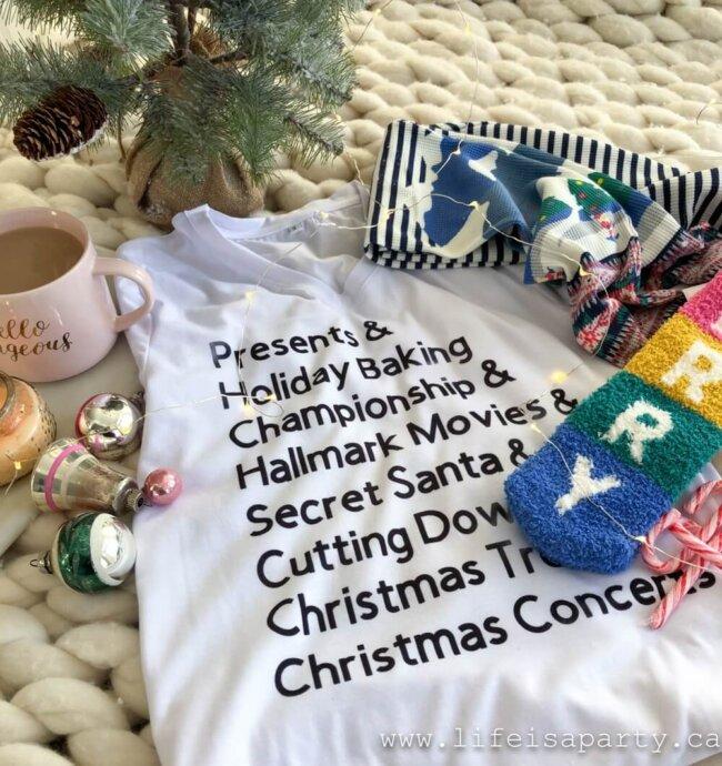 Cricut Christmas crafts - DIY t-shirt