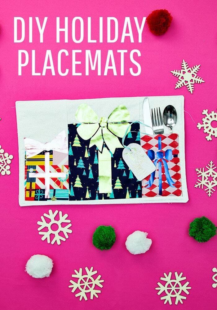 holiday placemats Cricut Christmas craft ideas