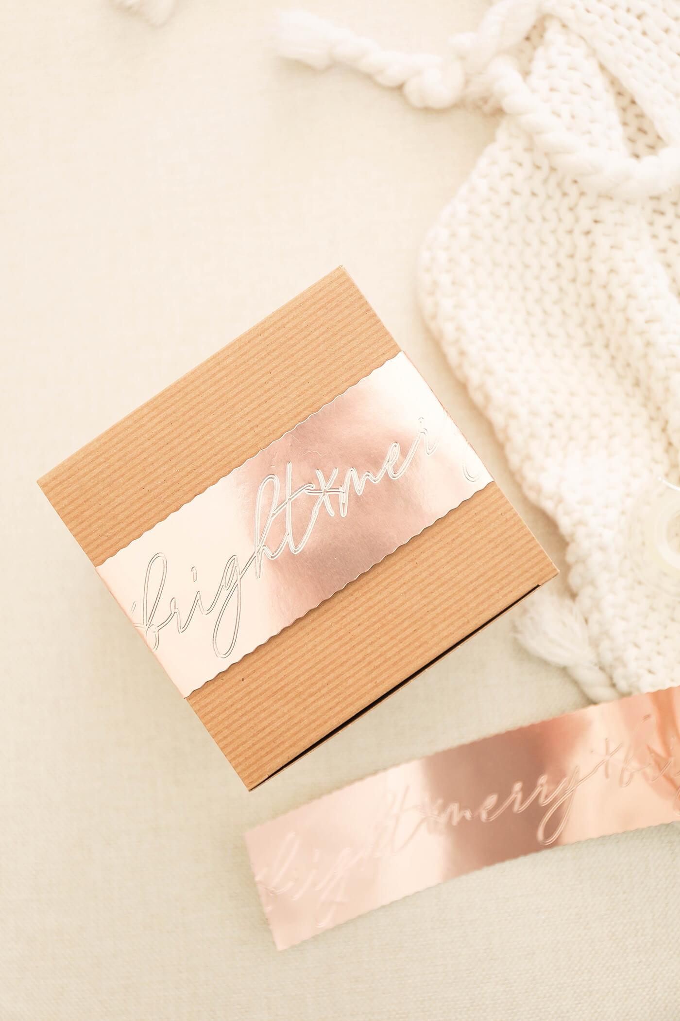 embossed metallic gift wrap