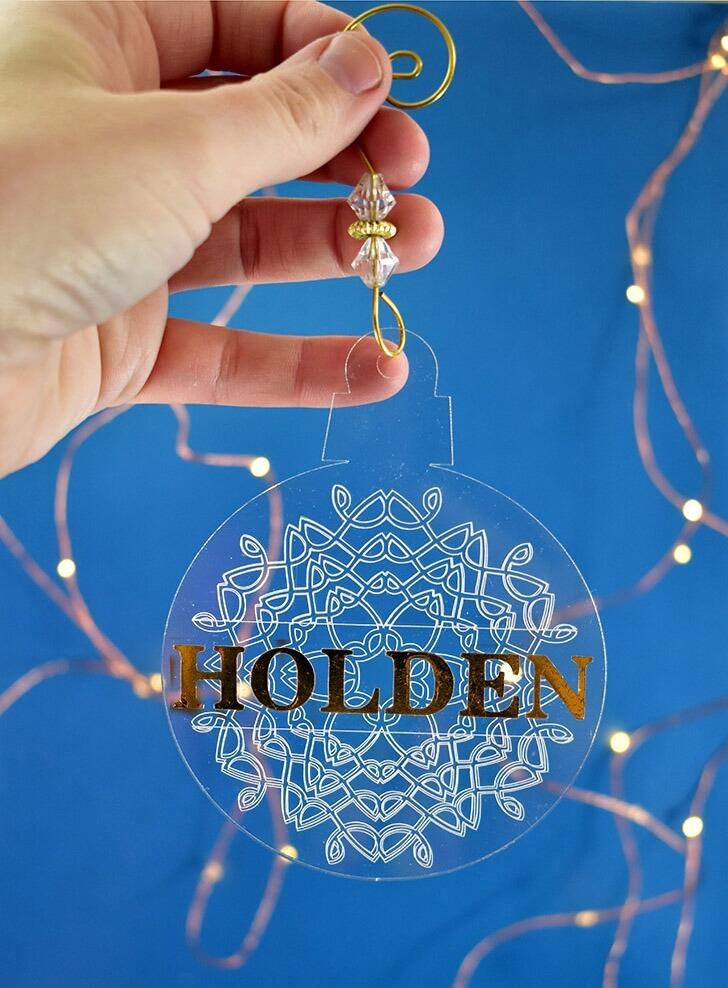 engraved snowflake ornaments
