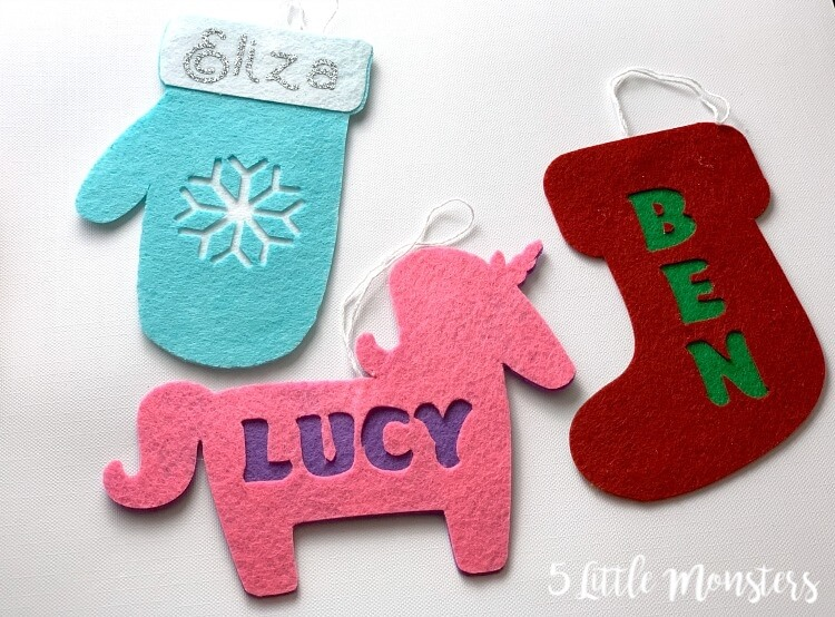 DIY Christmas ornaments with Cricut