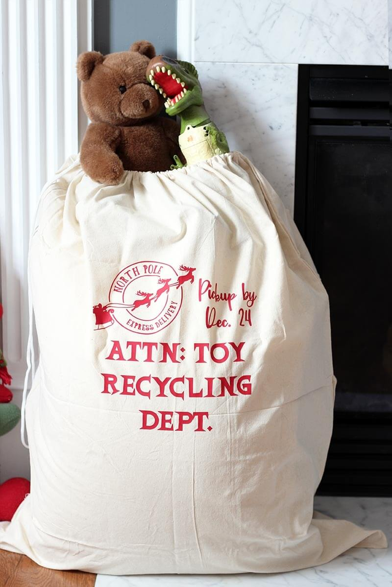 Christmas toy recycling bag