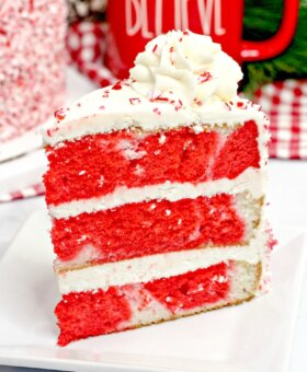 Candy Cane Cake – Peppermint Layer Cake Recipe