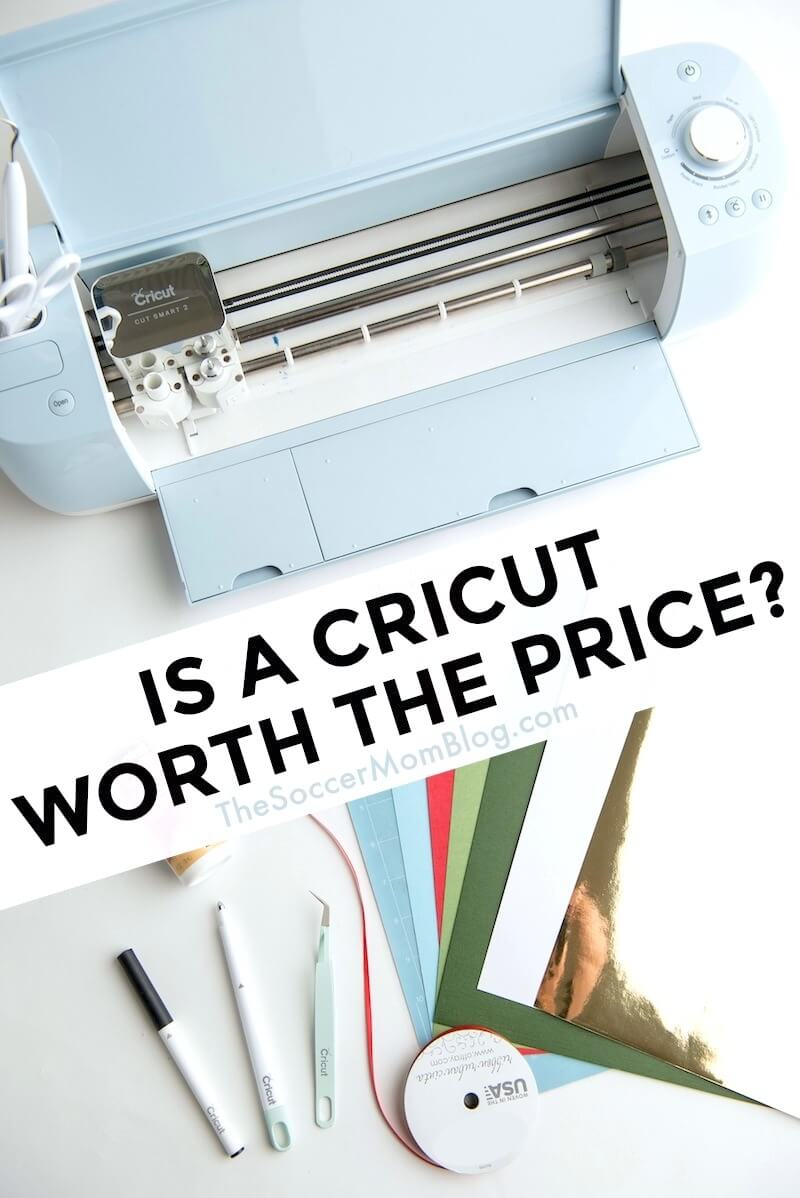 "If you've been eyeing one of the powerful Cricut cutting machines, but wondered, ""is Cricut worth the price?"" we've got the answers! Keep reading for a breakdown of what a Cricut does, how to get the best price on Cricut Maker and other machines, as well as what makes Cricut products such an awesome value!"