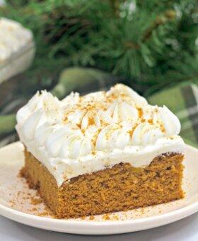 Easy Gingerbread Poke Cake