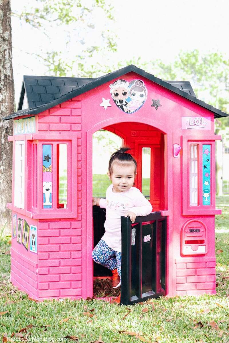 LOL Surprise Cottage Playhouse and toddler