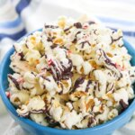 This sweet Peppermint Bark Popcorn is an excellent treat that's super easy to make!