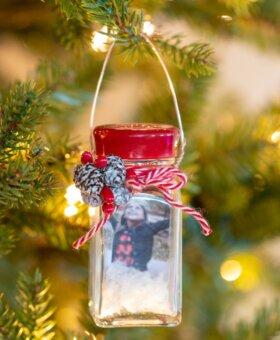 Salt Shaker Snow Globe Ornaments