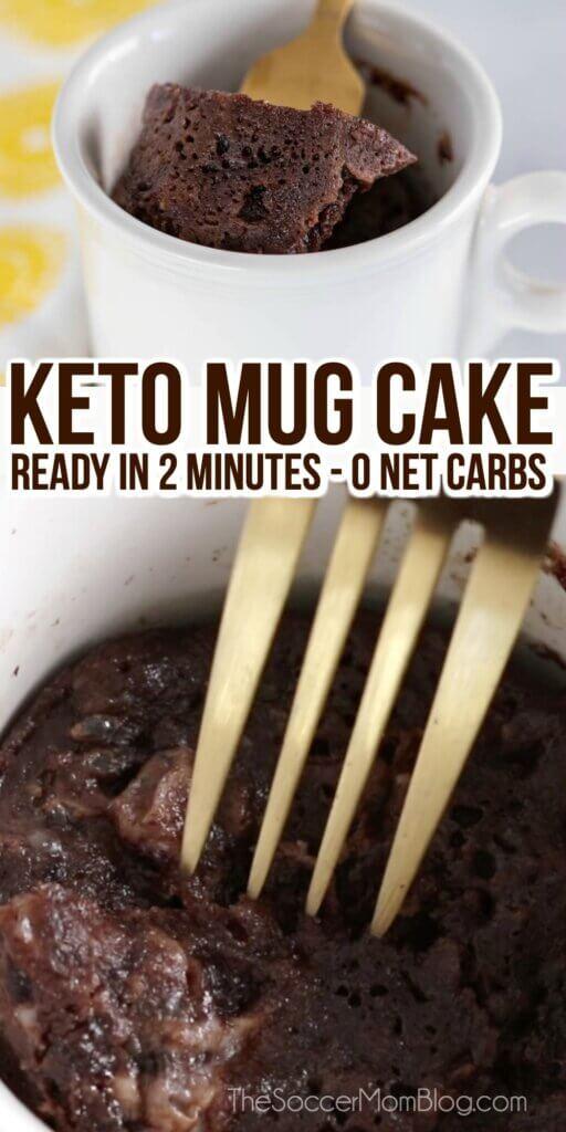rich chocolate keto mug cake