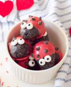 Ladybug Oreo Valentine Truffles
