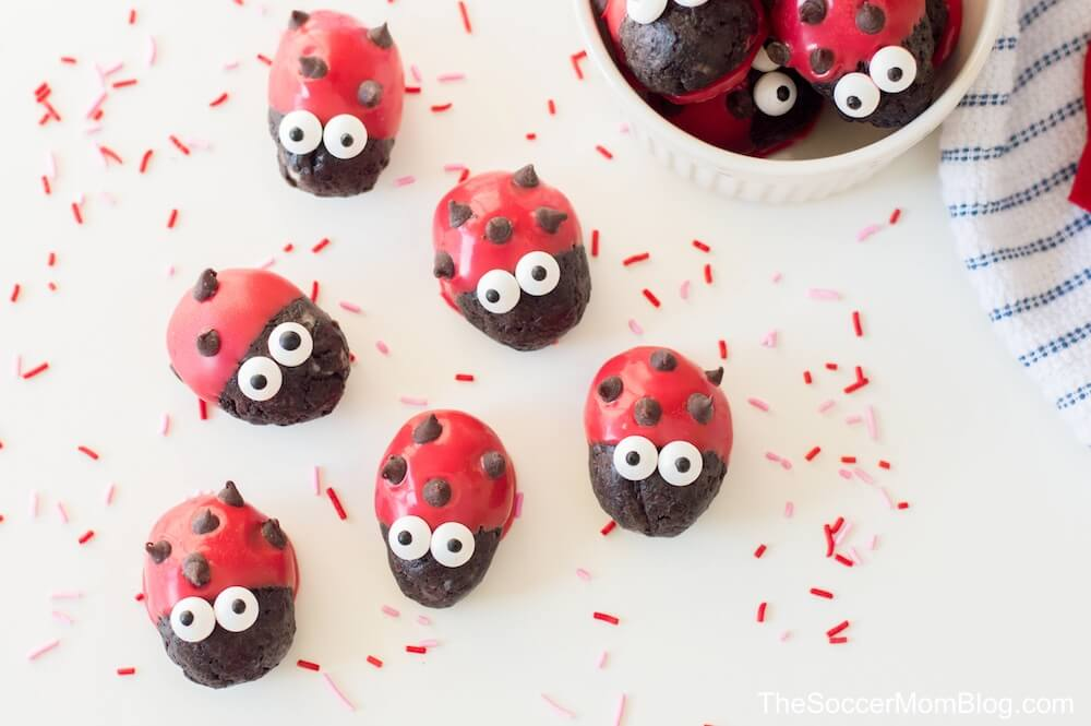 These adorable Ladybug Oreo Truffles are a sweet treat that's perfect for the love bug in your life!