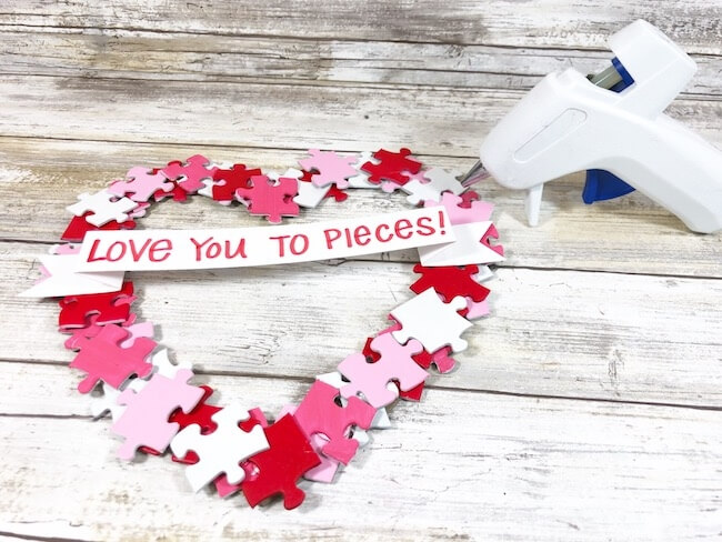 """Love You to Pieces"" DIY Valentine Wreath"
