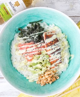 Wasabi Salmon Bowl Recipe