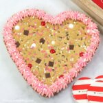 Show your love this Valentine's Day with this adorable and delicious Valentine's Day Cookie Cake!