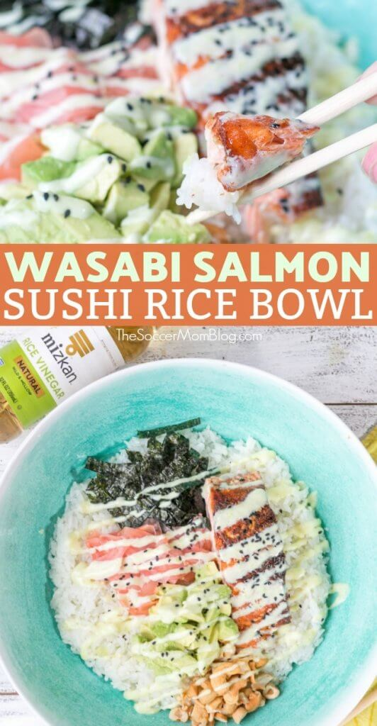 This wasabi salmon bowl is a tantalizing combination of the sweet, spicy, and umami flavors that embody Japanese cuisine. It's easy to make at home and so delicious it rivals any dish you'd find in a restaurant!