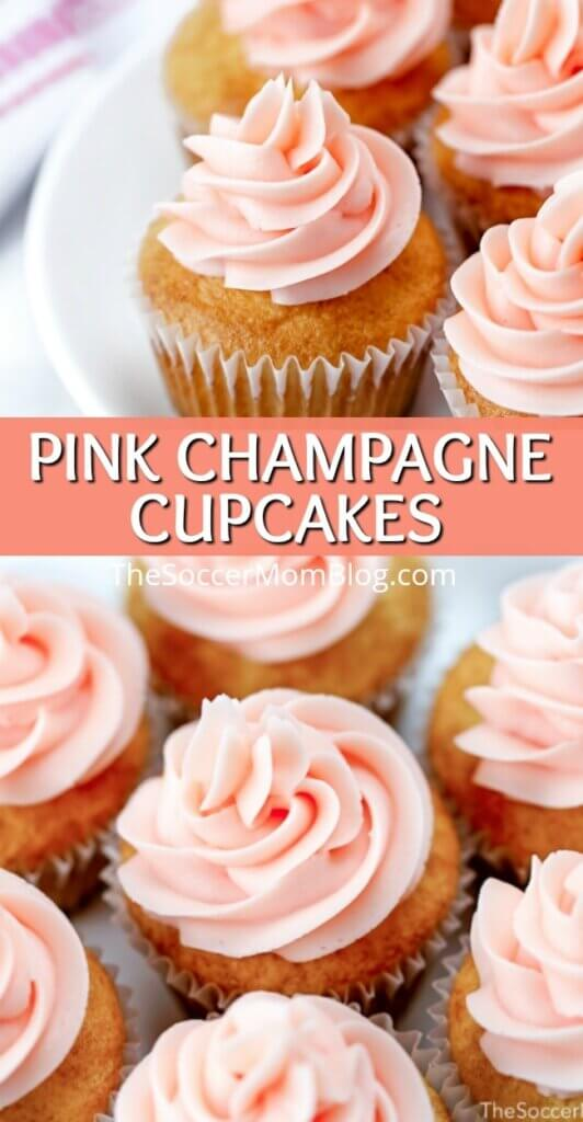 These gorgeous Pink Champagne Cupcakes are a delight to the senses! Made with real sparkling wine and homemade champagne buttercream frosting, they are a fun and festive dessert for any special occasion!