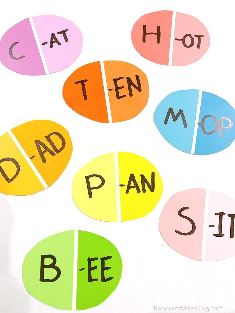 Easter sight word game for kindergarten