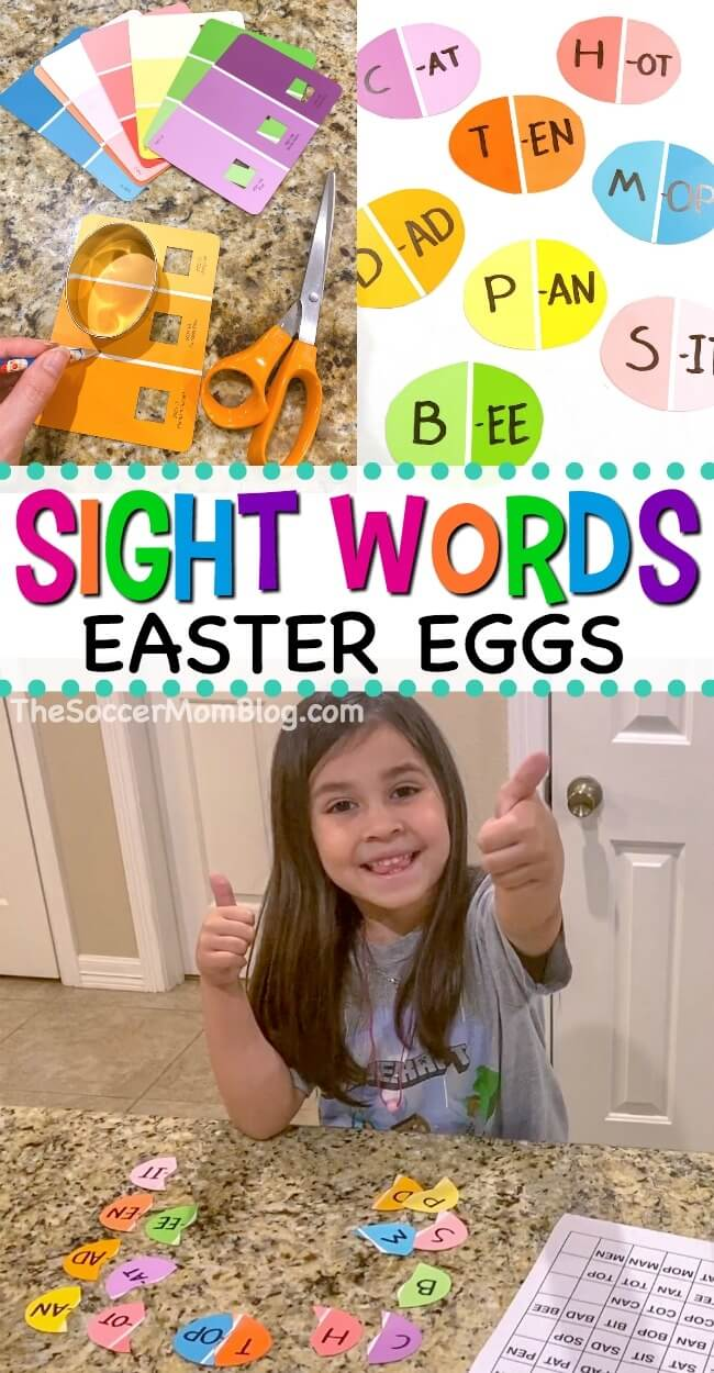 Learning sight words doesn't have to be a chore! With this Easter-themed sight words games, kids will have a blast finding and creating new words!