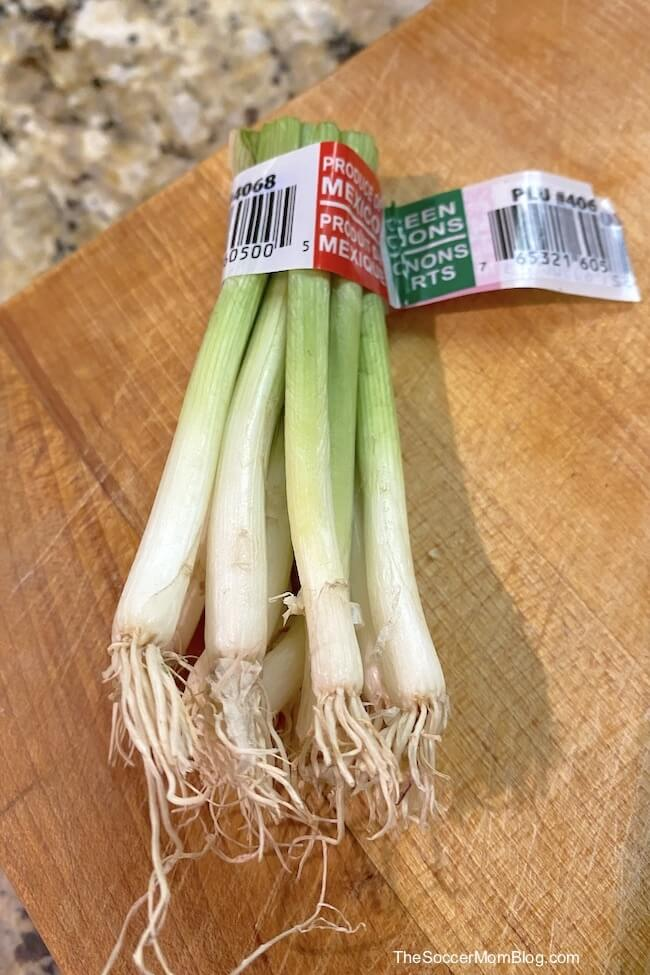 green onion stalks