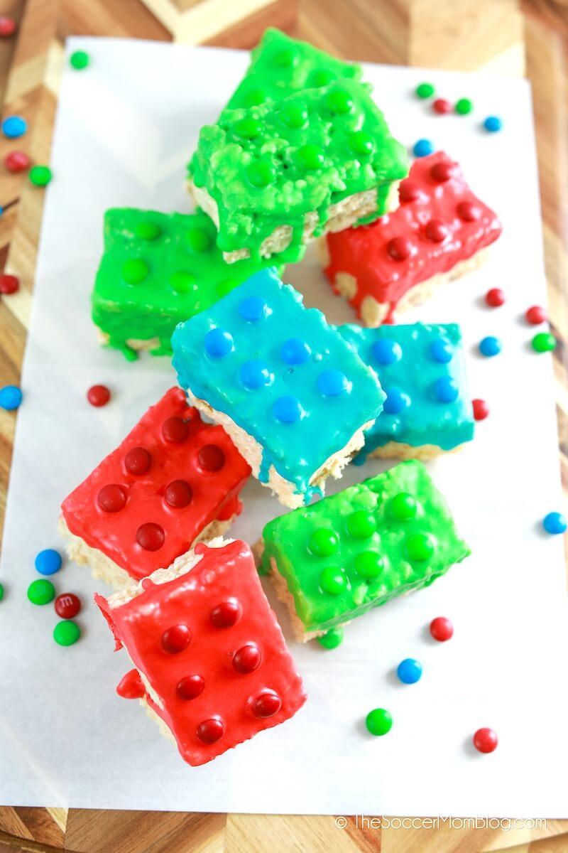 Rice Krispies LEGO treats