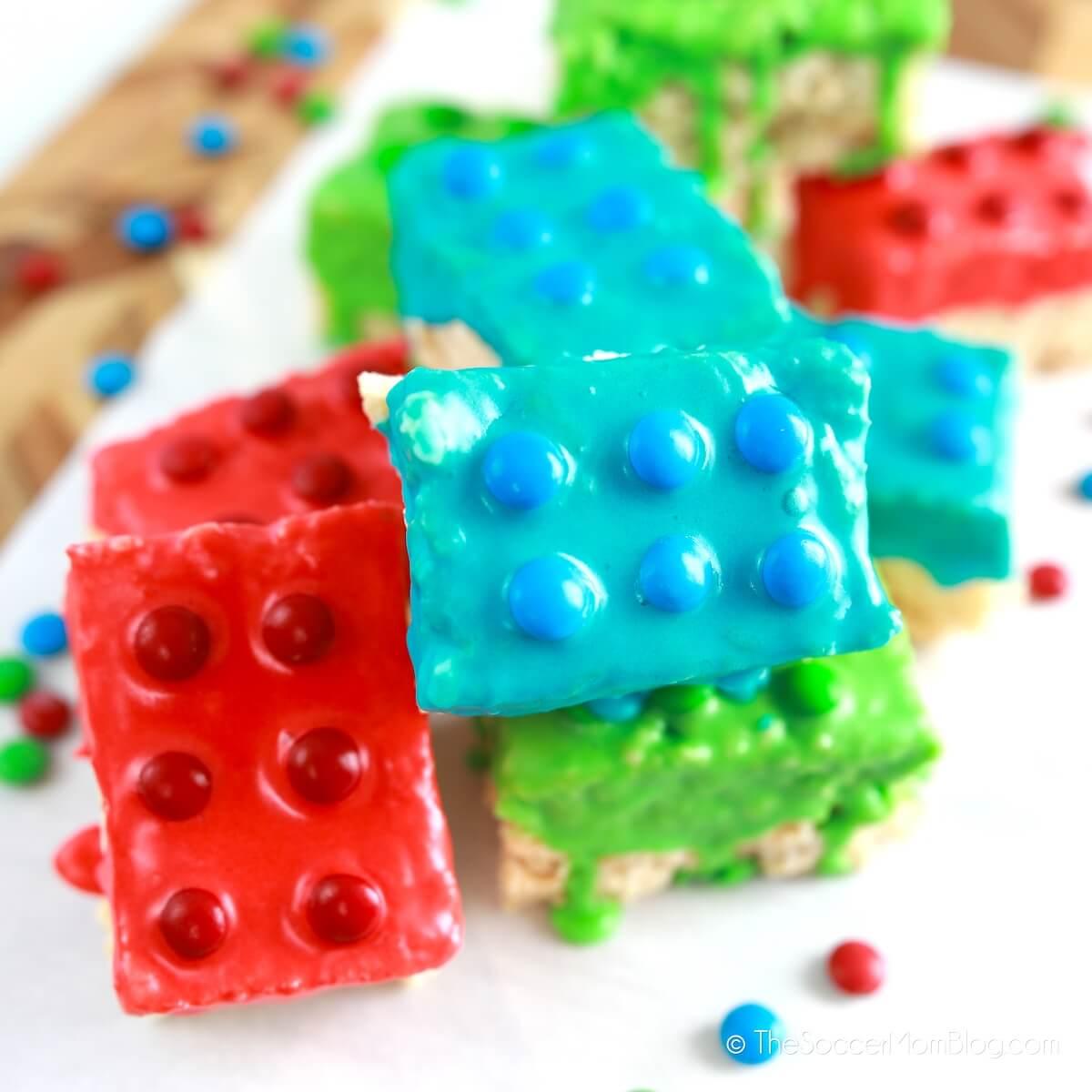 Rice Krispie LEGO Treats
