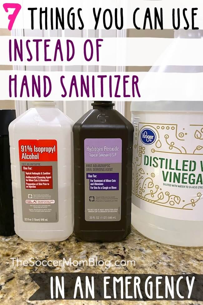 When water isn't an option and the stores are empty, what can you use instead of hand sanitizer to kill germs? We break down common household items that may be useful in an emergency.