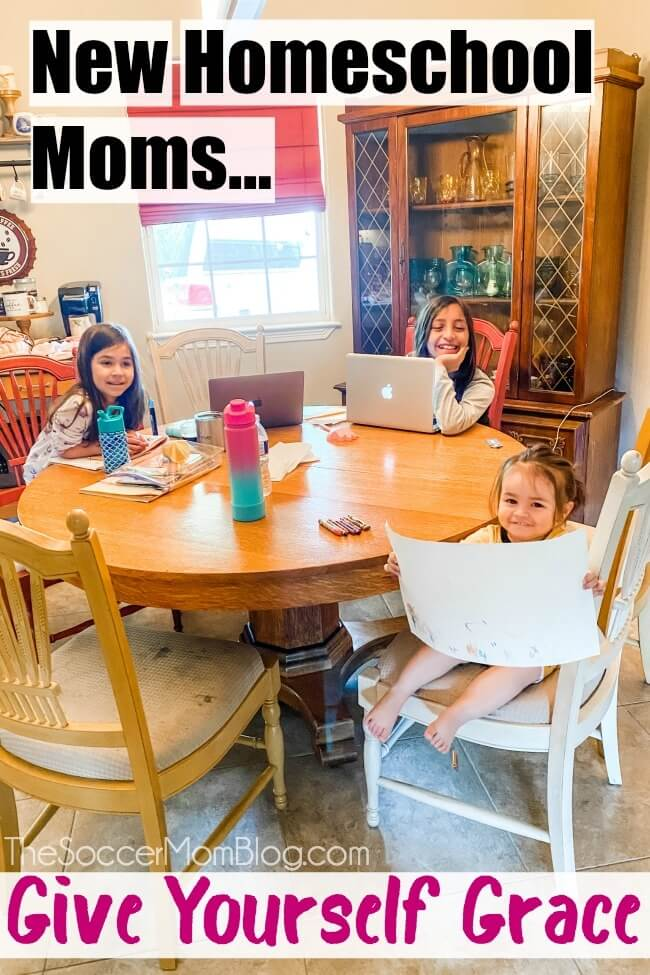 To all my fellow new homeschool moms, give yourself grace. No one knows what they're doing, but we're all doing the best we can.