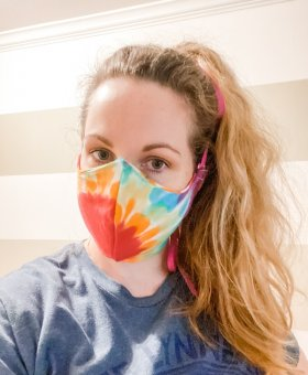 Homemade Cloth Face Mask from a T-Shirt