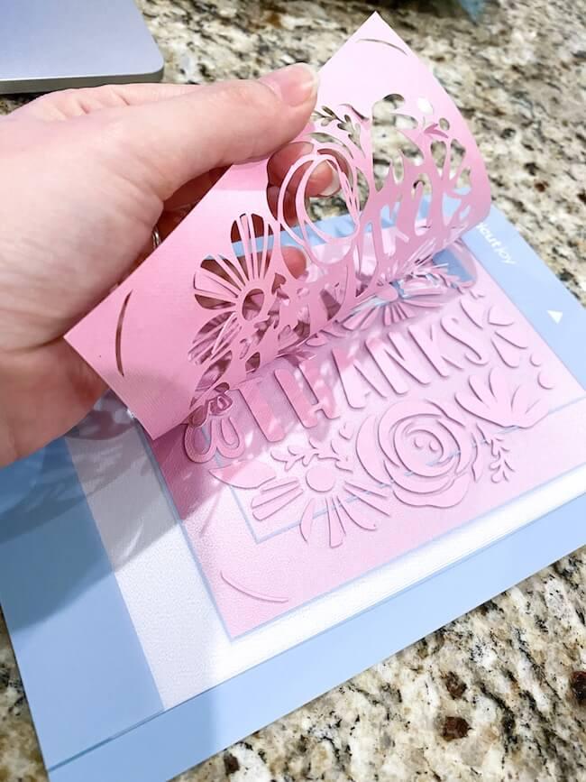 weeding card cut by Cricut Joy