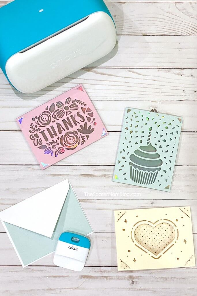 benutzerdefinierte Grußkarten mit einem Cricut Joy gemacht
