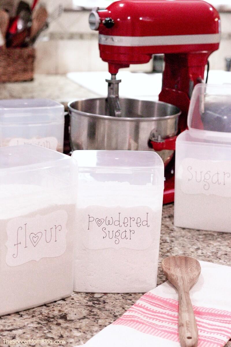 DIY pantry labels made with Cricut Joy