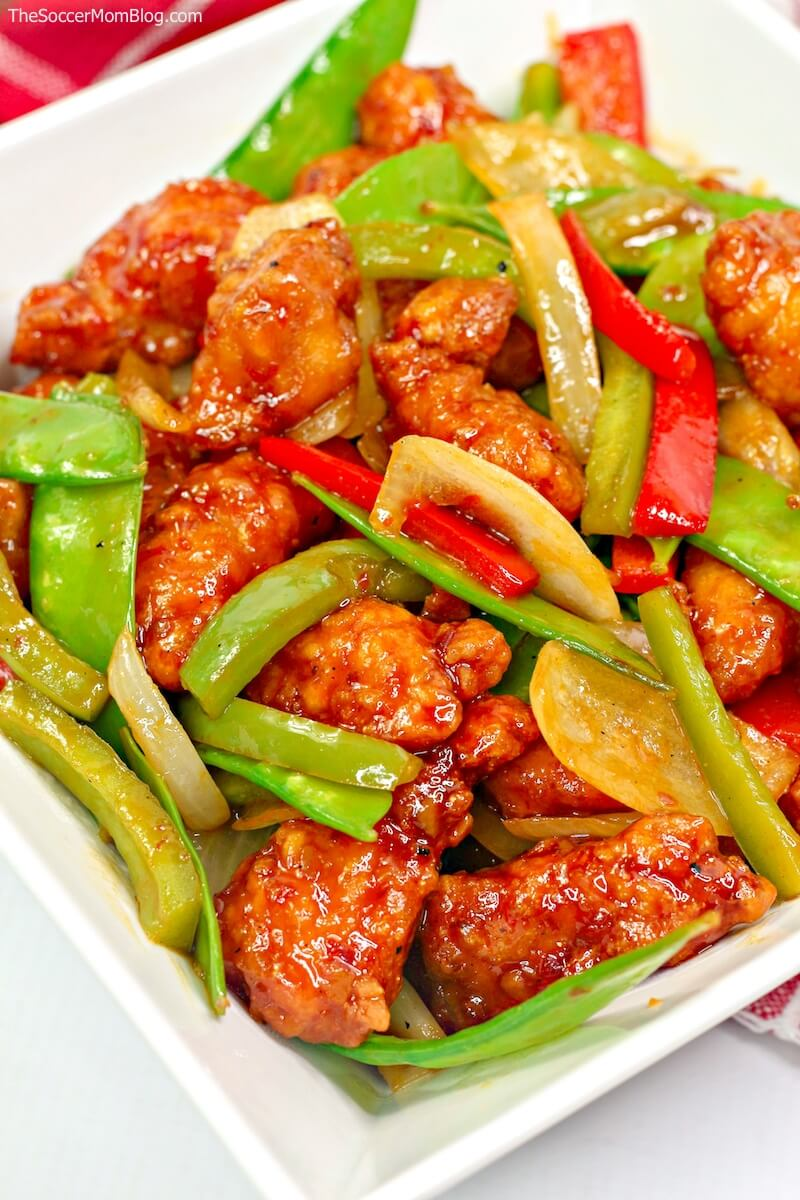 Firecracker chicken and vegetables